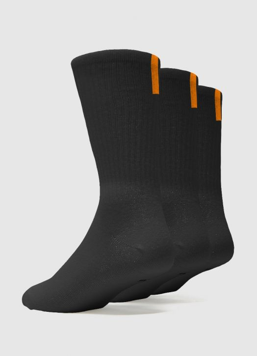 Adult Crew Socks - 3 Pack Black