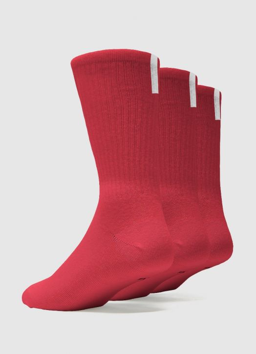 Crew Sock Red - 3 Pack