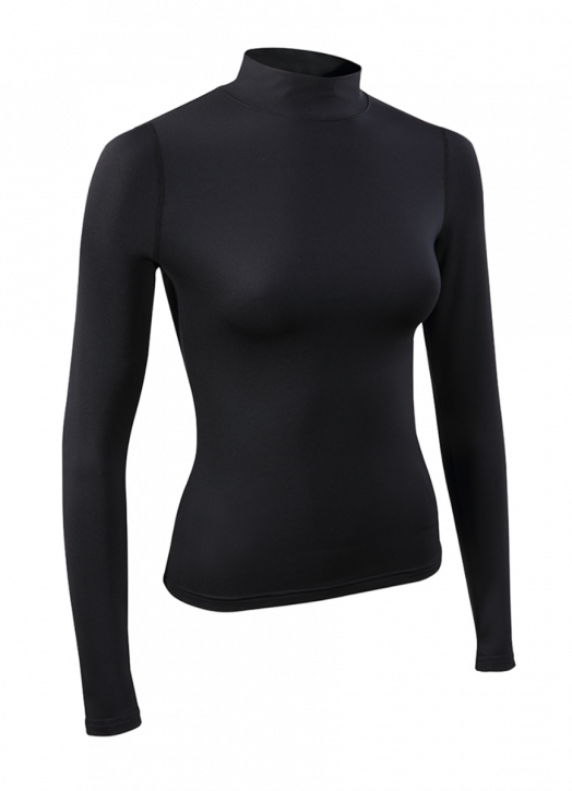 Women's BaseLayer Turtle Neck Top Black