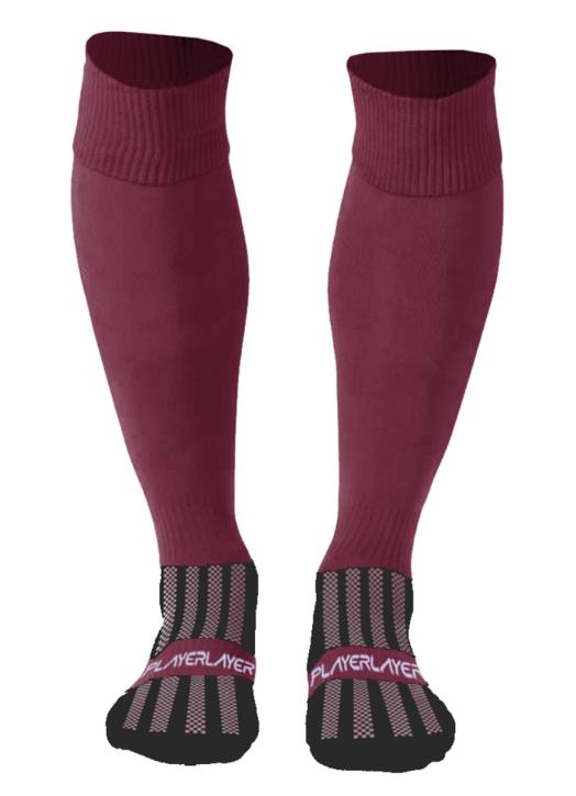Adult Euro Socks Cool Max Maroon