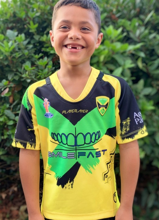 Junior Rep Rugby Jersey - V Neck Yellow
