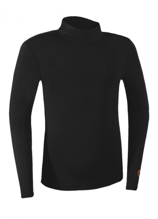 Junior BaseLayer Turtle Neck Top Black