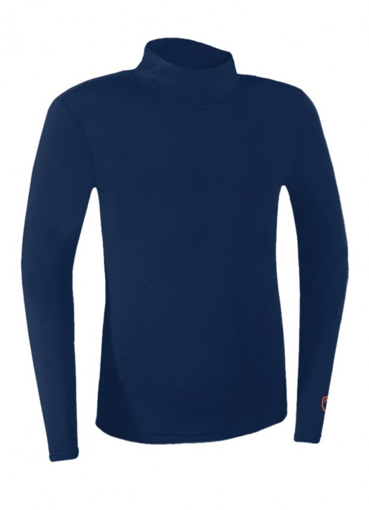 Junior BaseLayer Turtle Neck Top Navy