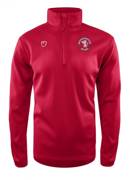 Men's Quarter Zip MidLayer Scarlet Red