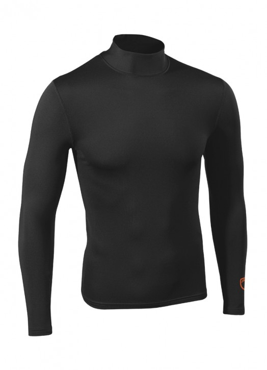 Men's BaseLayer Turtle Neck Top Black