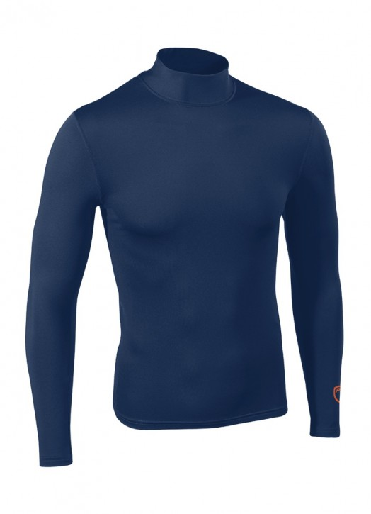 Men's BaseLayer Turtle Neck Top Navy