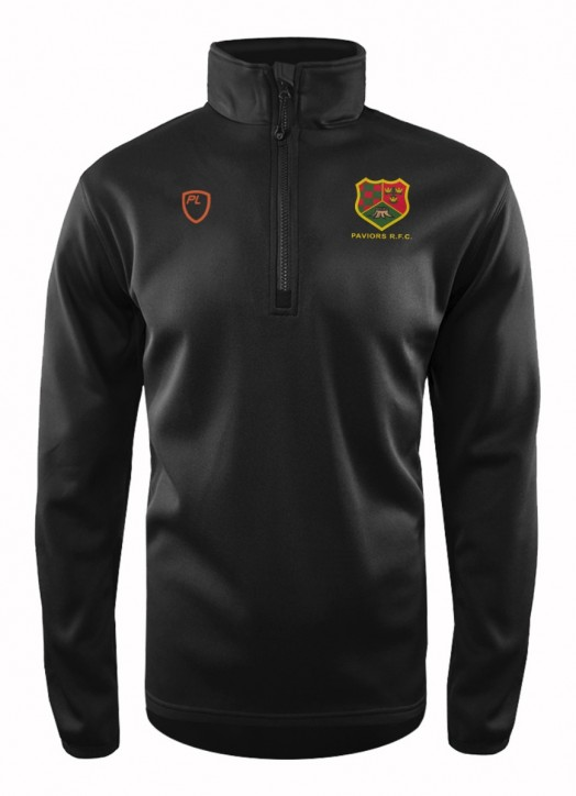 Junior Quarter Zip MidLayer Black