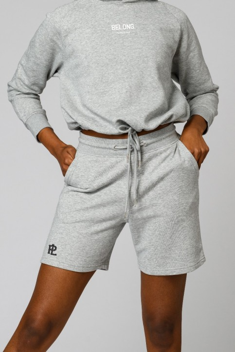 Eco Sweat Shorts Grey Marle