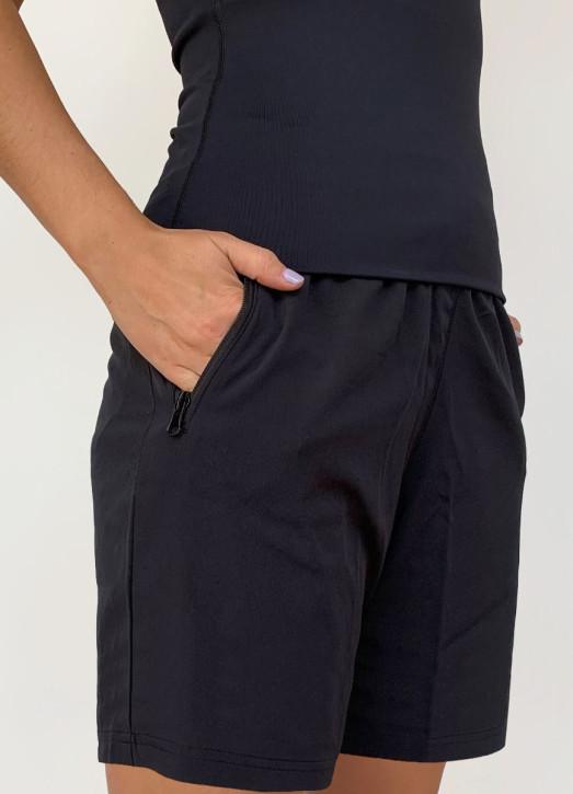 Women's 8 Inch Coaches Shorts Black