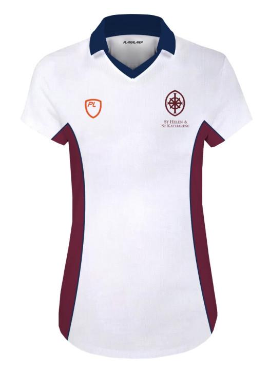 Girls Court Shirt C/S - No velcro White