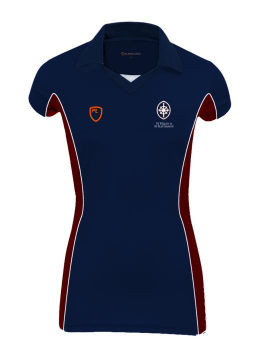 Girls Court Shirt C/S Navy Blue