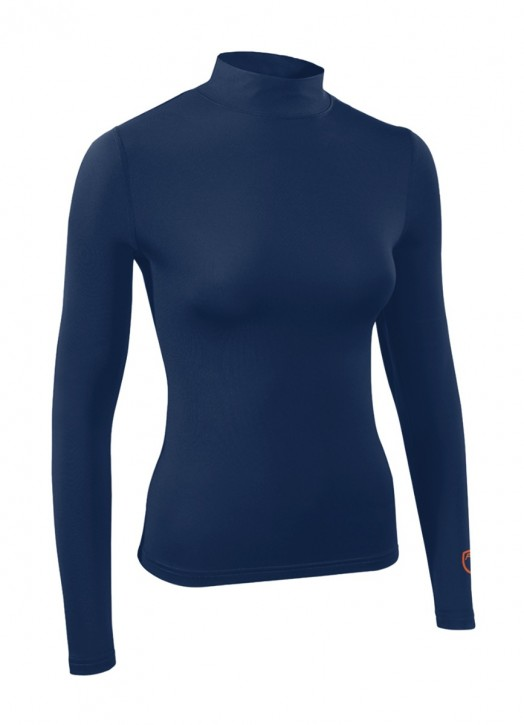 Women's BaseLayer Turtle Neck Top Navy