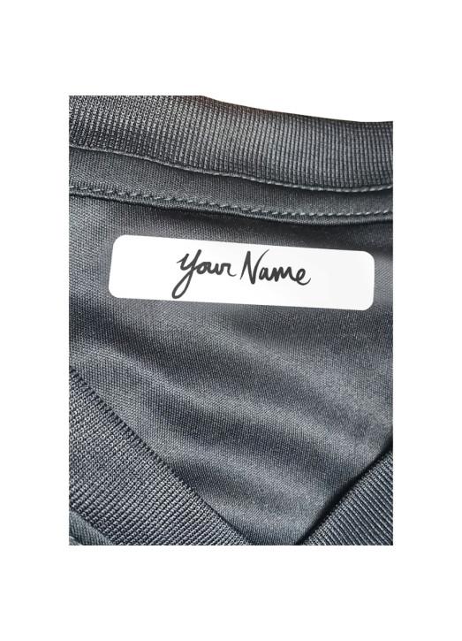 25 Iron On Name Labels White