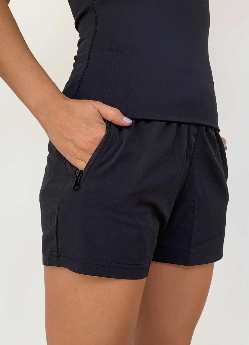 Women's 4 Iinch Coaches Shorts Black