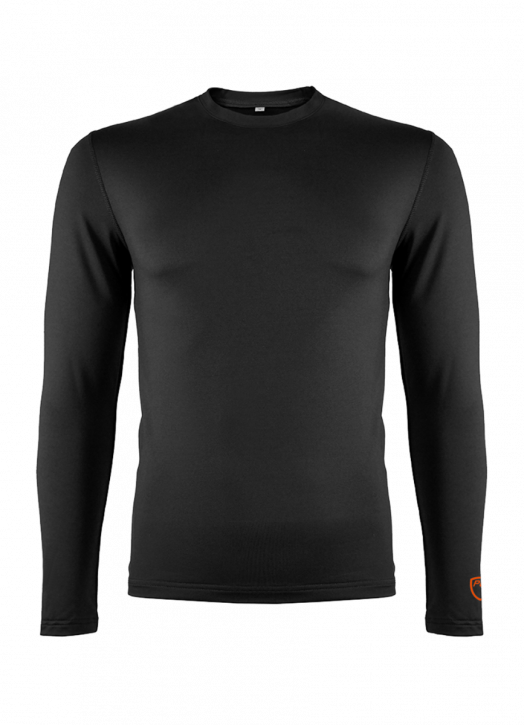 Junior BaseLayer Crew Neck Top Black