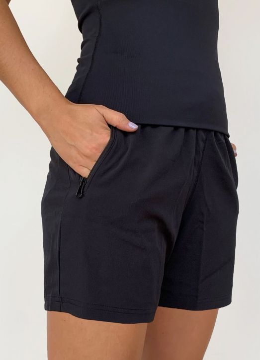 Women's 6 Inch Coaches Shorts Black