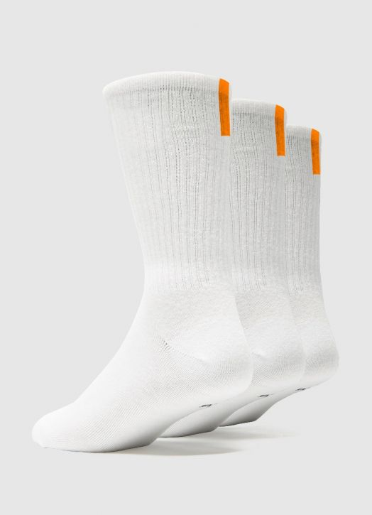 Adult Crew Socks - 3 Pack White